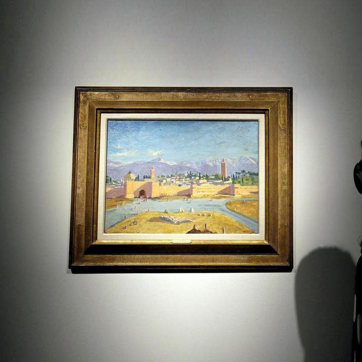 """Marrakech peinte par Winston Churchill,ça donne """"La tour de la mosquée de la Koutoubia"""" - Art Contemporain -                     Luxe radio"""