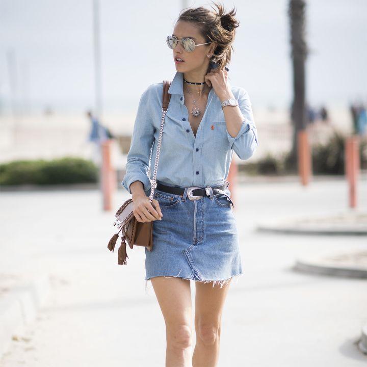 La jupe en jean : Pour un look casual chic réussi - Mode -                     Luxe radio